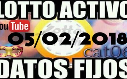LOTTO ACTIVO DATOS FIJOS PARA GANAR  05/02/2018 cat06