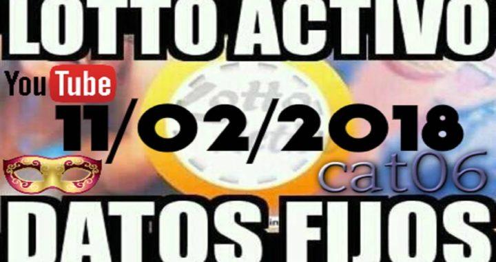 LOTTO ACTIVO DATOS FIJOS PARA GANAR  11/02/2018 cat06