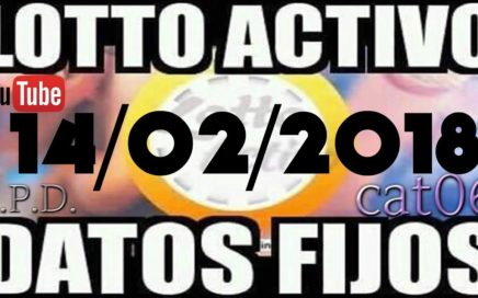 LOTTO ACTIVO DATOS FIJOS PARA GANAR  14/02/2018 cat06