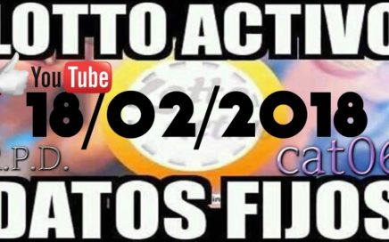 LOTTO ACTIVO DATOS FIJOS PARA GANAR  18/02/2018 cat06