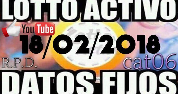 LOTTO ACTIVO DATOS FIJOS PARA GANAR  18/02/2018 cat06