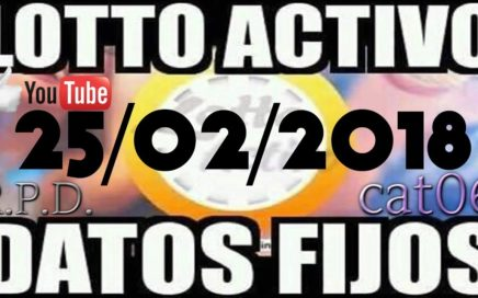 LOTTO ACTIVO DATOS FIJOS PARA GANAR  25/02/2018 cat06