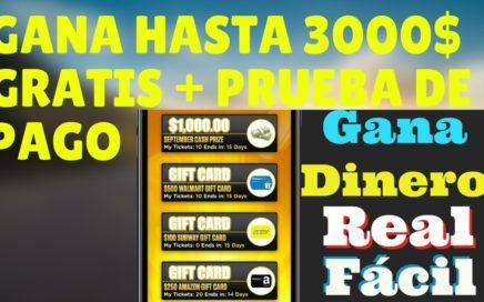 LUCKY DAY GANA HASTA 3000$ POR JUGAR A LOTERIAS GRATUITAS + PRUEBA DE PAGO COBRANDO por PAYPAL