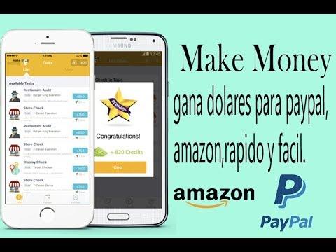 MAKE MONEY APP PARA GANAR DINERO  FACIL RAPIDO PARA PAYPAL Y SIN INVERTIR GRATIS  LIFE TECH 2017