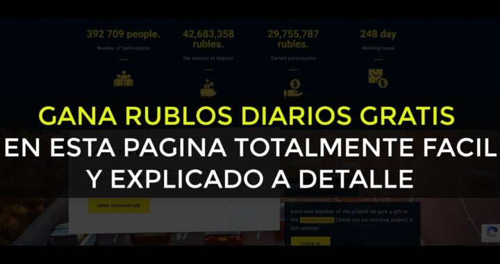 MOTOR | Sitio para ganar RUBLOS gratis DIARIAMENTE Minimo 1 RUB!!