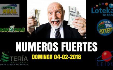 NUMEROS FUERTES PARA GANAR LA LOTERIA HOY 04-02-2018