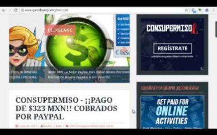 ¡PAGO DE $323 MXN! Cobrados para PayPal.Cómo Conseguir Dinero Rápido.[Nueva pagina 2018]