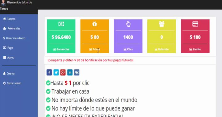 Sharesjob para trabajar desde casa y ganar dinero online