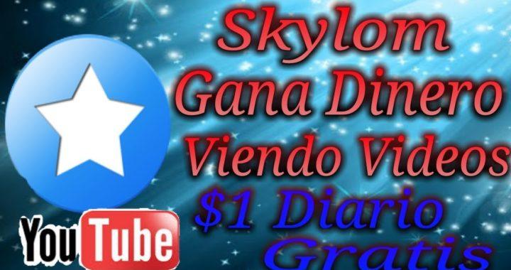 Skylom gana dinero viendo videos mas de $1 diario aprovecha totalmente gratis para paypal