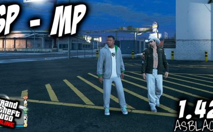 SP to MP - Single Player to Multiplayer - GTA 5 - JUGAR ONLINE PERSONAJE MODO HISTORIA - (PS4 - XB1)