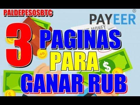 TRES PAGINAS PARA GANAR RUBLOS  PARTE 1