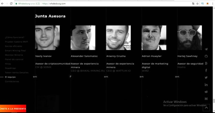WhalesBurg ICO | Plataforma Mineria Criptomonedas