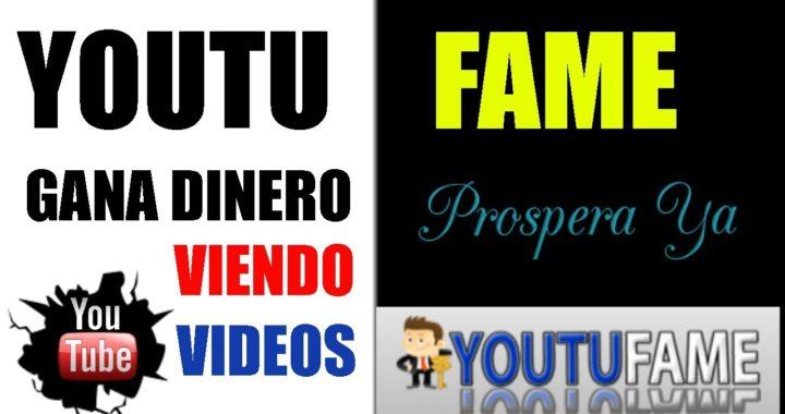 YOUTUFAME 2018 Nuevo Gana mas de $5 Dolares Viendo Vídeos, Pago por Paypal, Gana Dinero, Promociona.