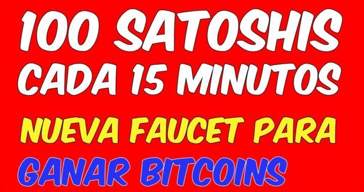 100 SATOSHIS CADA 15 MINUTOS Como Minar y Ganar Bitcoins En La Nube Rapido Faucet