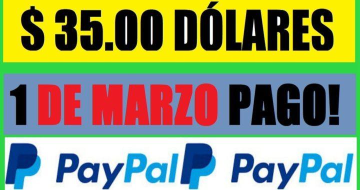 $35,00 DÓLARES PRIMER PAGO DEL MES DE MARZO 2018 - EMPEZAMOS BIEN!!!