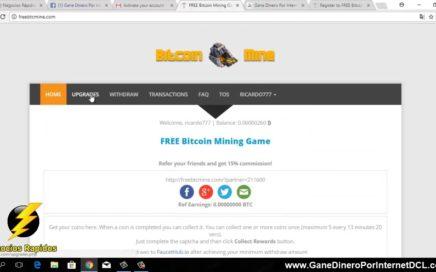 50 Satoshis GRATIS Cada 15 Minutos - Como Ganar Bitcoin 2018