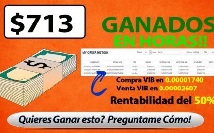 $713 Dolares Ganados en HORAS - COMO GANAR DINERO POR INTERNET - CRIPTOMONEDAS SEÑALES GRATIS