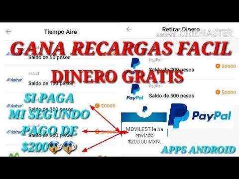 Aplicación para ganar recargar gratis y dinero por PayPal  si paga 