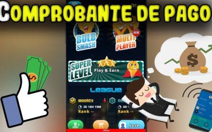 APP que PAGA por JUGAR GANAS mas DE 20$ / COMPROBANTE DE PAGO / LA MEJOR APP