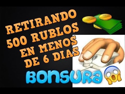 BONSURA  |  INCREÍBLE RETIRANDO  MAS DE 500 RUBLOS EN SOLO 5 DÍAS |  COMPROBANTES DE PAGO EN VIVO