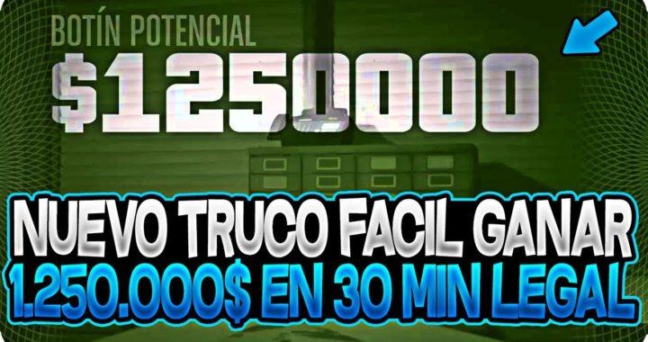 """BRUTAL!! NUEVO TRUCO DINERO INFINITO LEGAL CONSEGUIR """"1.250.000$ EN 30 MINUTOS"""" EN GTA 5 ONLINE 1.42"""