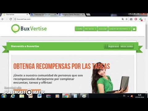 Buxvertise Gana Dinero por Ver Anuncios y completar encuestas y tareas
