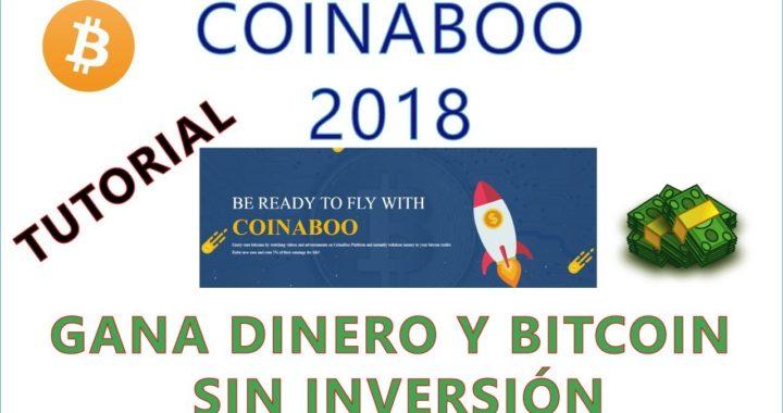 COINABOO GANA DINERO Y BITCOIN: FÁCIL Y RÁPIDO