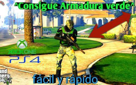 Como conseguir chaleco verde Gta5 online  Nuevo conjunto Armadura  verde Xbox one ps4