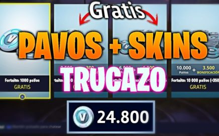 COMO CONSEGUIR PAVOS Y SKINS GRATIS EN FORTNITE!!! *NUEVO TRUCO TODO GRATIS* (FUNCIONANDO)