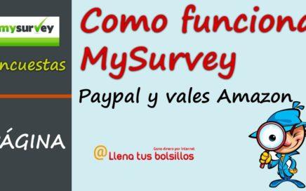 Como funciona MySurvey   Portal de encuestas para ganar dinero gratis