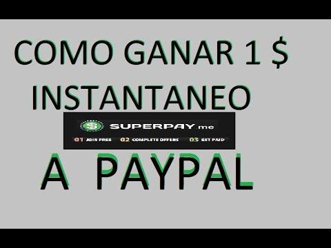 COMO GANAR 1 EURO A PAYPAL INSTANTANEO en SuperPayMe (2018)
