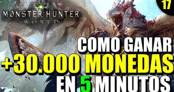 COMO GANAR +30000 MONEDAS EN 5 MINUTOS | FARMEO RAPIDO | MONSTER HUNTER WORLD | GAMEPLAY EN ESPAÑOL