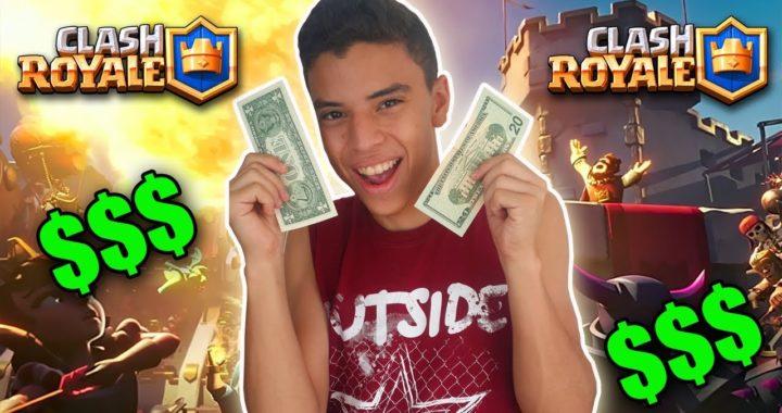 COMO GANAR DINERO JUGANDO CLASH ROYALE!! $$$ | TheHectorino