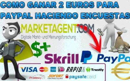 Como ganar dinero por internet para paypal Haciendo encuestas / cobro minimo desde $2 Euros