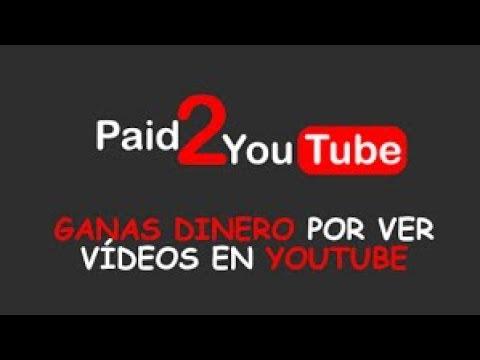 como ganar dinero por ver vídeos de youtube en  paid2youtubes y como funciona, registro con paypal