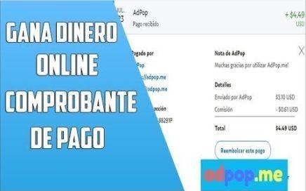 Comprobante De Pago Ganar dinero con acortadores de enlaces | Cómo GANAR DINERO ADPOP PAGANDO 2018