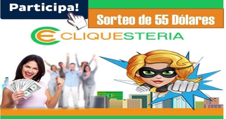 Concurso 55 Dólares Cliquesteria (Válido hasta el 01/04/2018)