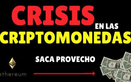CRISIS CRIPTOMONEDAS / Cómo ganar dinero en crisis / Analizando Ethereum