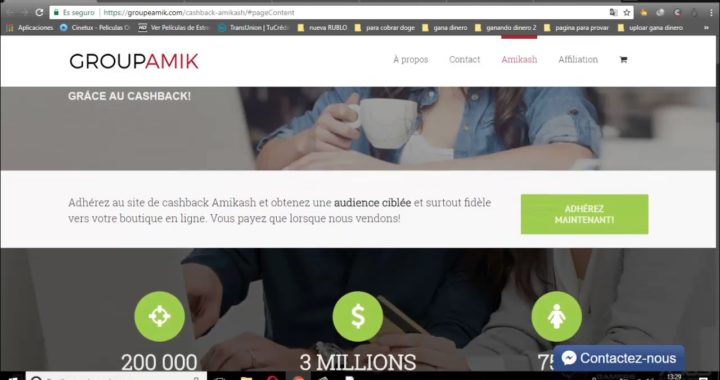 dinero desde casa con  Amikash gana dinero solo por invitar amigos