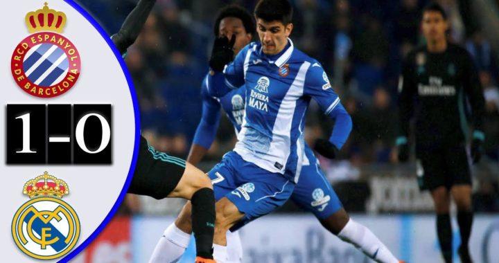 Espanyol(1) vs Real Madrid(0) LA LIGA Martes 27/Febrero/2018 RESUMEN COMPLETO