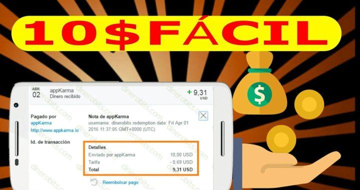 GANA 10$ PayPal Descargando Aplicaciones - AppKarma [MARZO] 2018
