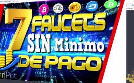 GANA DINERO! 7 Faucets SIN Mínimo de Pago Gana Para Ganar Criptomonedas GRATIS 2018