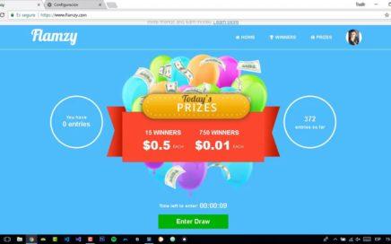 Gana dinero con Flamzy (Nueva pagina)  + truco para doblar entradas 2018