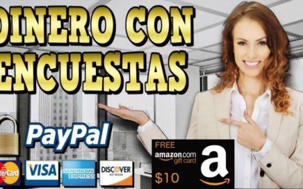 Gana Dinero Gratis para Paypal y Giftcard de Amazon con encuestas
