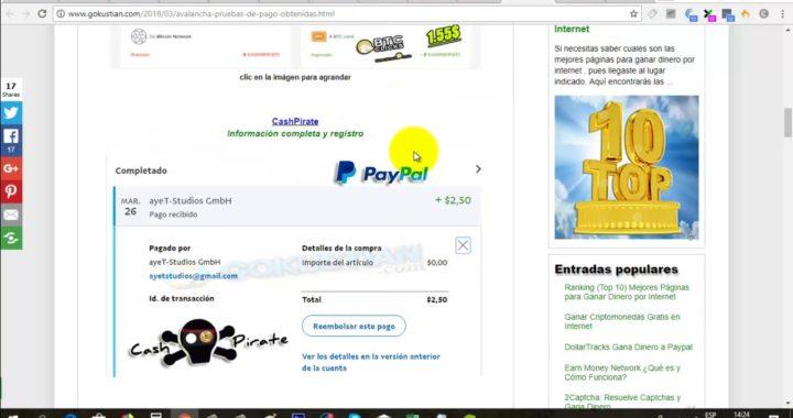 Gana Dólares Gratis para Paypal con tu Móvil | CashPirate Cómo Funciona y Pago | Gokustian |