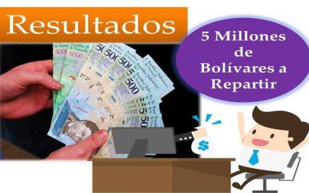 Ganadores Del Sorteo de 5 Millones de Bolívares