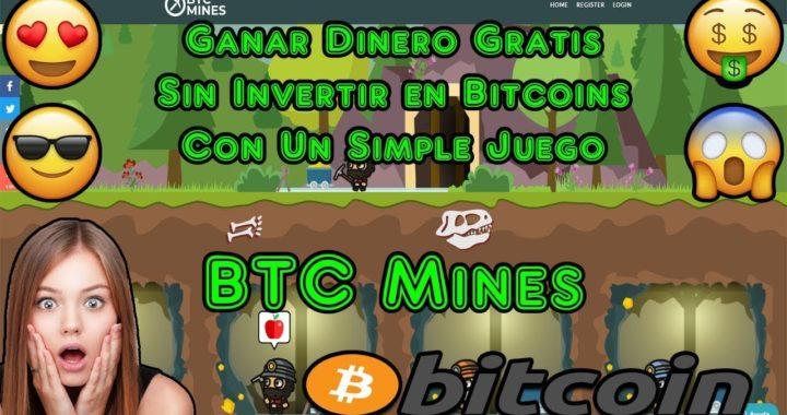Ganar Dinero Gratis Sin Invertir en Bitcoins con un Simple Juego | BTC Mines Explicacion Completa