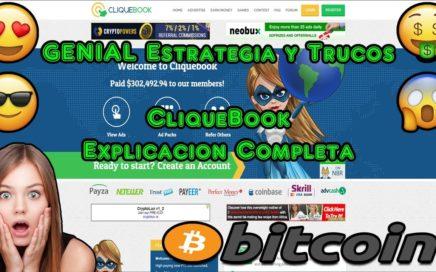GENIAL Estrategia y Trucos, Ganar Dinero Sin Invertir, PTC 2018   CliqueBook Explicacion Completa