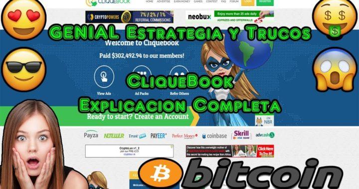 GENIAL Estrategia y Trucos, Ganar Dinero Sin Invertir, PTC 2018 | CliqueBook Explicacion Completa