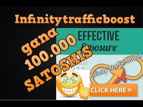 INFINITY TRAFFIC BOOST |  GANA HASTA 100.000 SATOSHI |  LAS MEJORES PAGINAS PARA GANAR SATOSHIS 2018